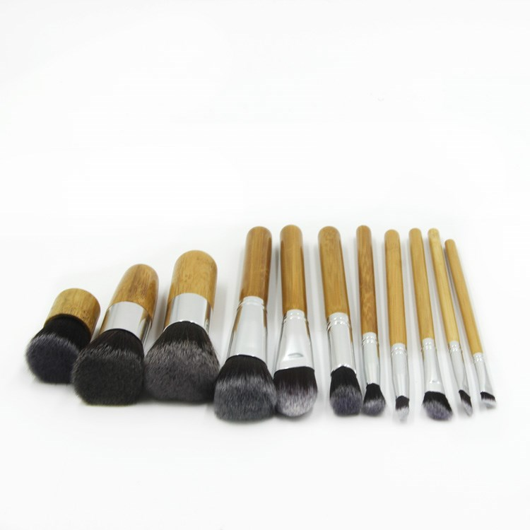 Factory famous best seller soft natural bamboo mineral cosmetics mineral makeup brush