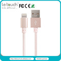 Trade assurance USB to light 8pin nylon braided usb cable for iphone 5