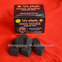 bamboo coal cube portable charcoal ignite quickly 2.5*2.5*2.5cm