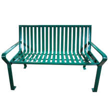 Green economic outdoor wrought mosaic garden bench for sale