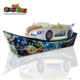 Qingfeng 2017 carton fair Amusement Track Rides Rotating need for speed carbon Speed Rides electric car racing arcade machine
