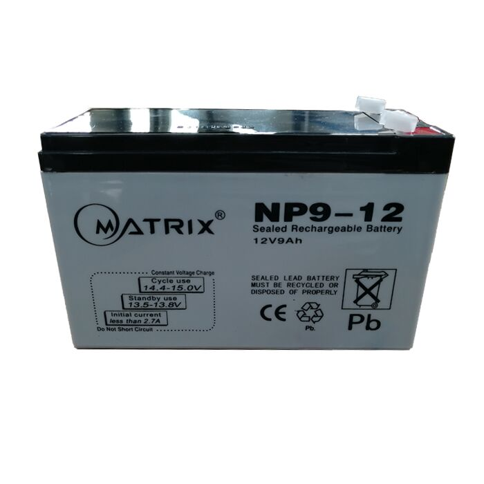 Grey Case 12V 9Ah Rechargeable UPS Battery wisdom 6 dzm 20  agm lead acid battery