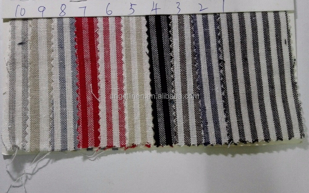 stein gewaschenes leinen baumwolle farbe gewebt streifen stoff in kleinen mengen und viele. Black Bedroom Furniture Sets. Home Design Ideas