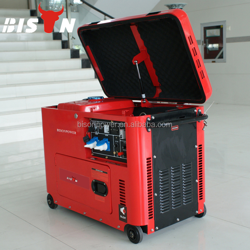 BISON ChinaTaizhou 5000 Watt China Suppliers AC Single Phase/ AC Three Phase 5kw Silent Diesel Generators