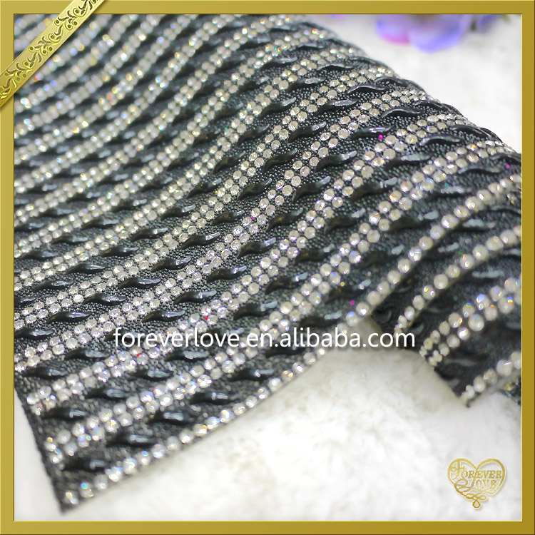 2016 New Arrival Hotfix Shinning Rhinestone Mesh for Shoes Decoration FRM-124