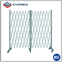 Portable Steel Folding Gate With Casters