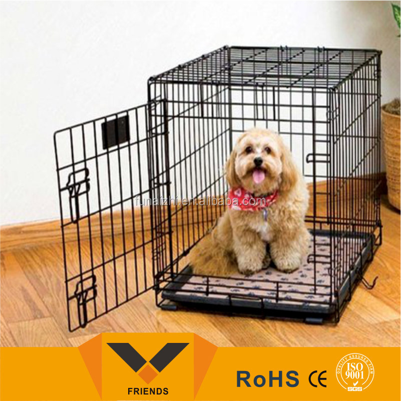 Folds for easy storage dog crate,cheap dog crate,dog crate wholesale