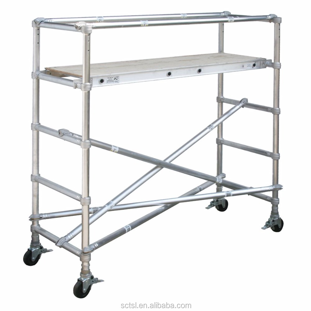 Aluminium 6 ft 6in to 7 ft 6in H x 10 ft L Adjustable Scaffold Sections