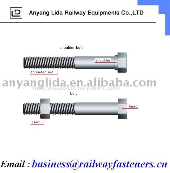 Drive spikes for railway project/professional produce screw spike/railway fasteners