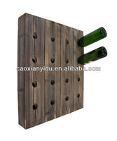 Wall Mounted Wooden Wine Holder/durable quality wine rack/solid wooden wine rack