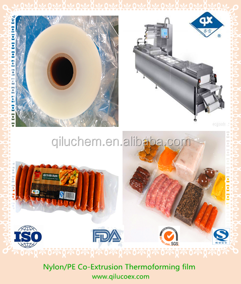 Good quality PA/PE,PA/PP,PA/EVOH/PE 7layer Thermoforming Packing Bottom Film with FDA