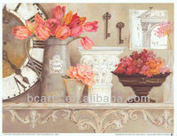 BC13-5447 Decorative Canvas Vase Flower Oil Painting