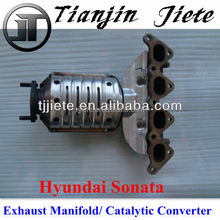 Hyundai catalytic converter exhaust manifold for hyundai sonata 220