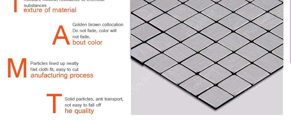 Sliver-White Mosaic tile Modern Kitchen Bathroom Interior Home Decoration Design Building Materials China Supplier RM201636