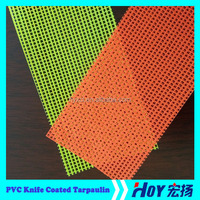 High Quality PVC Coated Tarpaulin, Mesh Fabric Tarpaulin For Protective Screening