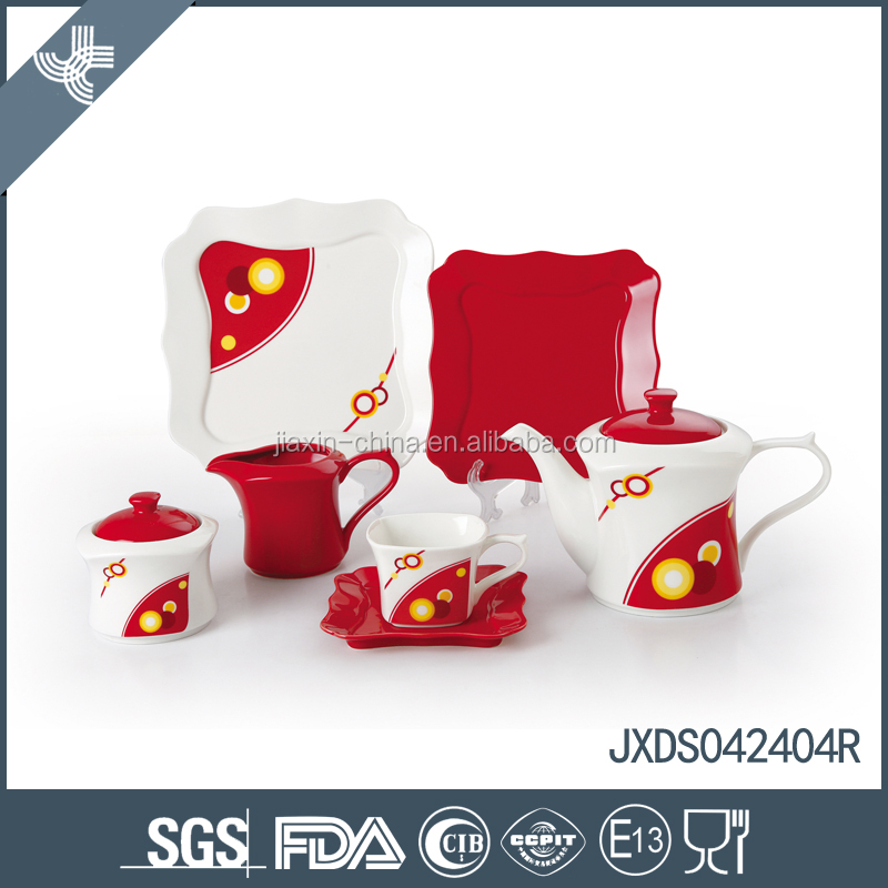 Eco-friendly wholesale lucky custom chinese ceramic tea set