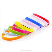 wholesales price 8mm width 21cm length DIY Accessories silicone Wristband Bracelet Fit 8mm slide charms letter free shipping