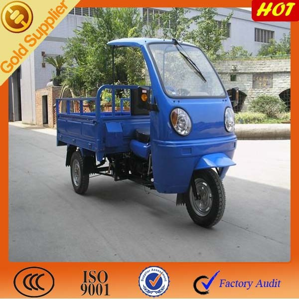 China tricycle for scooter on sale with semi cabin & ABS canopy / Used cargo tricyecycle for on sale