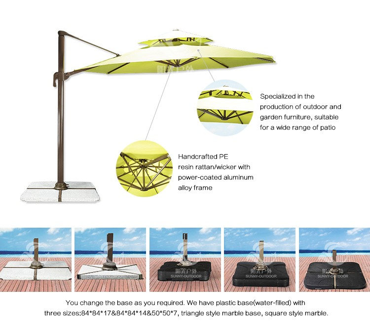 Top Quality Aluminum Alloy Frame Garden Parasol Beach Umbrellas