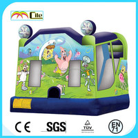 CILE Joyful Cartoon Printing Square Inflatable Castle Jumper Bed for Party Decoration