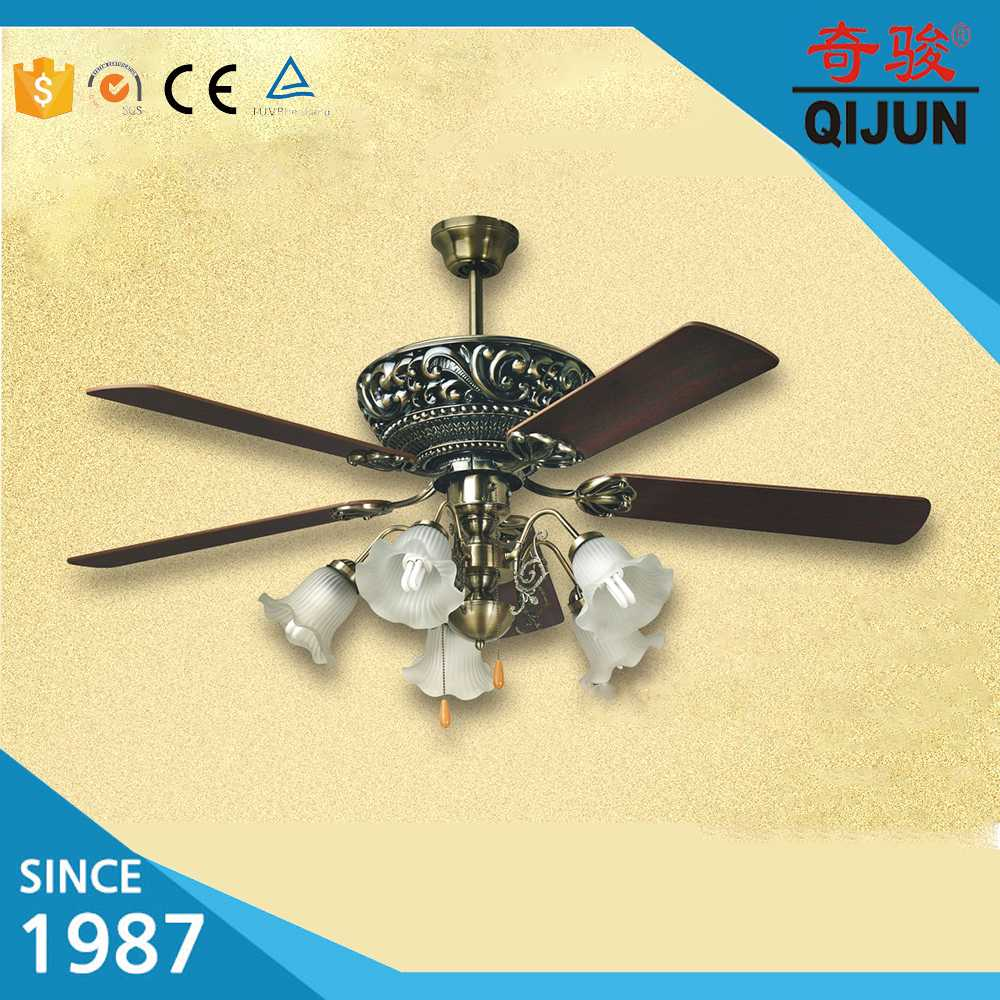 New Indoor Classic Decorative Ceiling Fan with Light
