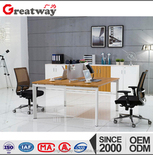 hot sale working furniture melamine office desk two people workstation(HA1-F-02A)