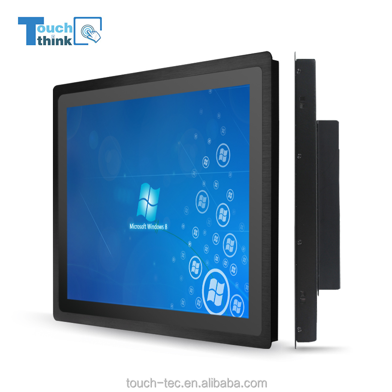 12'' Full HD Industrial LCD Display, IR Touch Screen LCD Monitor with LED Backlight