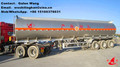 Fuel Tanker Trailer For Oil Made From Aluminum 52000 Liter or Any Other Volume Capacity