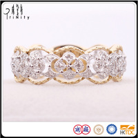 2-YEARS REPAIR PROMISE - LATEST VINTAGE DESIGN DIAMOND LADIES RINGS IN 18K YELLOW AND WHITE GOLD