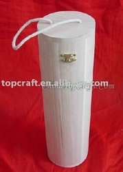 Fancy Wood Wine box in Cylinder shape with good quality