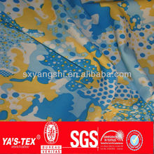 Azo-free dyes lightweight polyester spandex waterproof fabric for outdoor transfer paper printed fabric