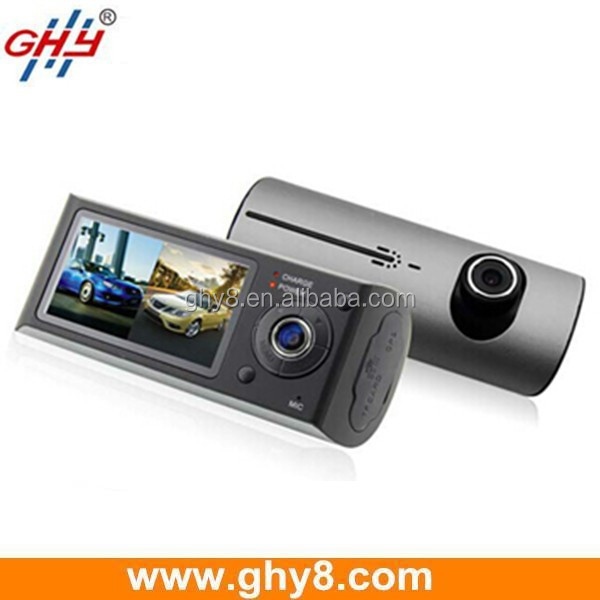 2.7inch Loop Recording 120 Degree R300 G Sensor Dual Camera Dash Cam With GPS