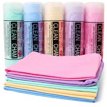 Synthetic chamois leather shammy towels for hair drying