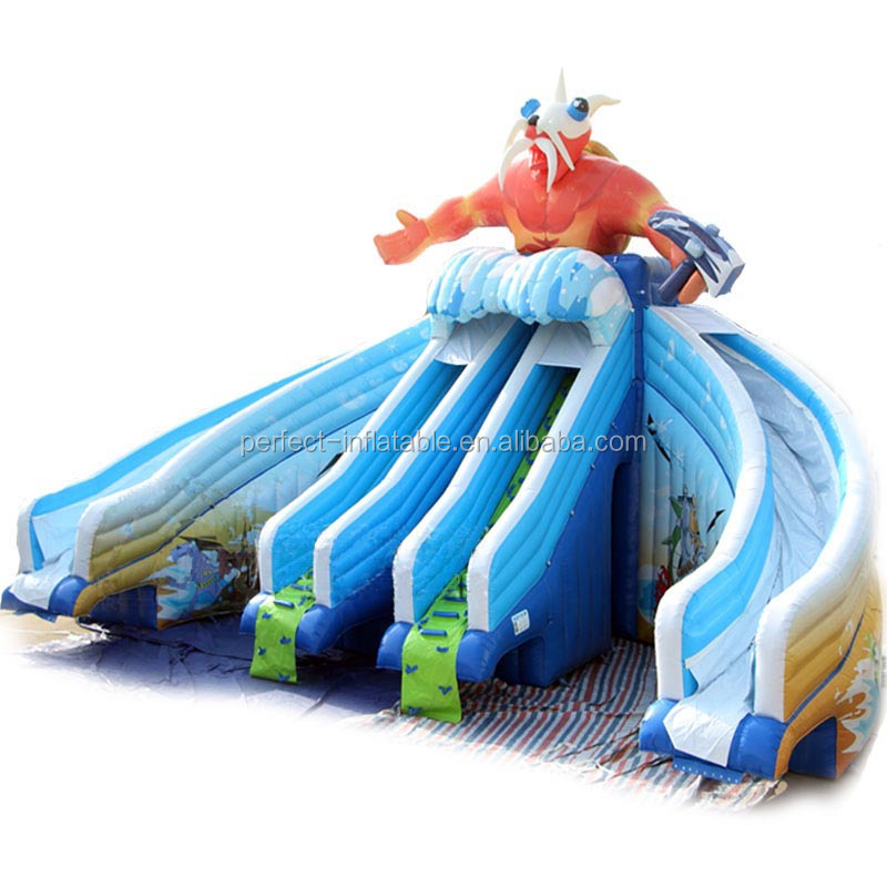 Giant interesting animal inflatable water slide, water park slide for sale