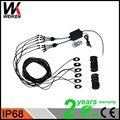 WEIKEN High power under car 9w 12-24v led truck bed rock light multicolor 6 pods remote bluetooth control