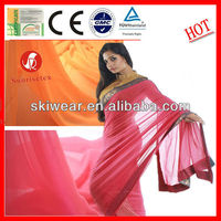 100% Polyester Plain Georgette Saree Fabric for Lady