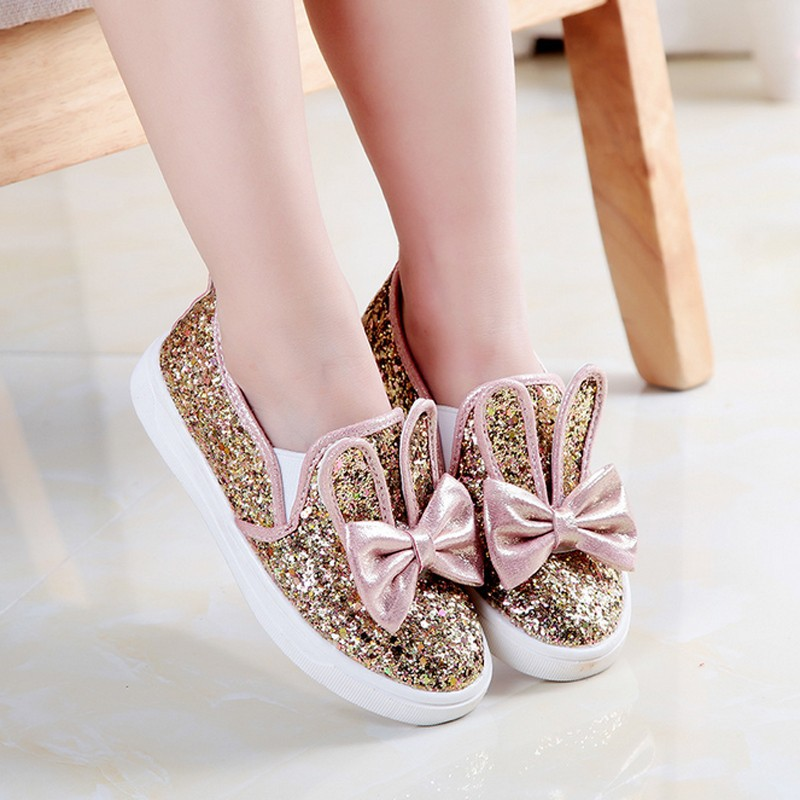 Tsw5166 Korean Kids Shoes Fashion Shining Sequins Child Girls Shoes With Bowknot Buy Fashion