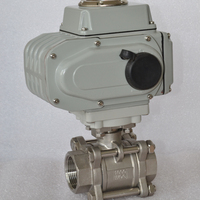 China made 3 pieces stainless steel motorized float ball valve