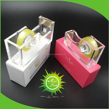 Manufacturer Acrylic Tape Dispenser with Customized Logo