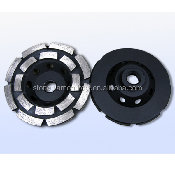 100mm Stone Grinding Double Row Diamond Grinding Tools Cup Wheels