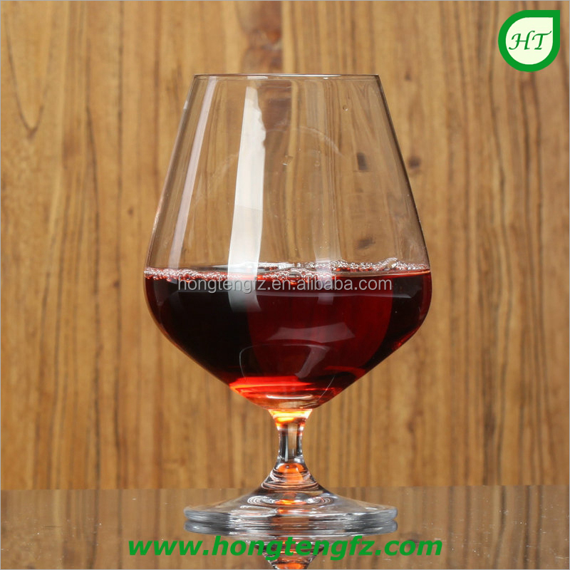 Promotional glassware crystal wine glass/ hot sale snifter glass stemware/ clear brandy glass