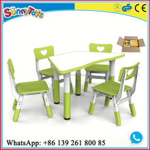 Children nursery school furniture childrens plastic table and chairs
