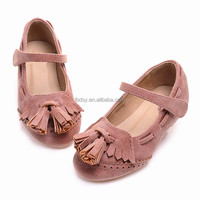 2016 newest design factory supply spring tassel girls kids shoes wholesale