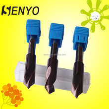 Tungsten carbide countersink drill bits for hardened steel