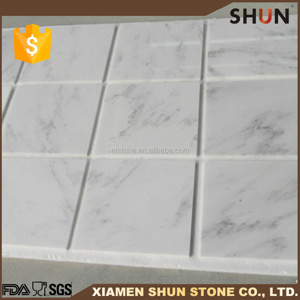 "Bathroom 12""x12"" oriential white marble polished tiles price,oriental white marble slab quarry"