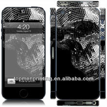 Iron skull,not the terminator printable adhesive vinyl sticker epoxy sticker skin for iphone 5