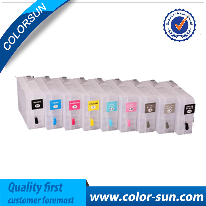 9pcs empty Refillable Ink Cartridges For Epson P800 sure color p800 SC-P800 printer with chips