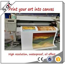 Custom made attractive cotton canvas prints printing from custom photo