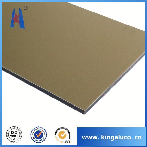 Alucobond installation silver coated plastic plates