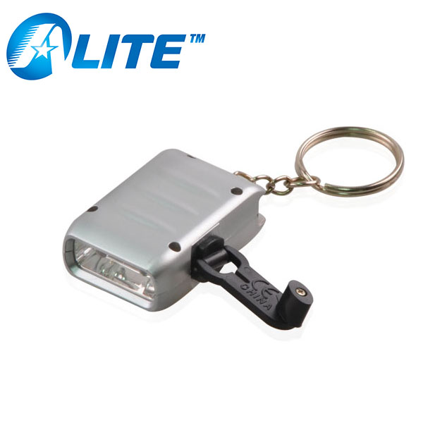 Emergency Use MINI 2 LED Torch Hand Crank Generator Dynamo Flashlight